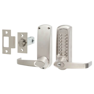 Codelock CL615 Mechanical Lock - Code Free Option - Stainless Steel)