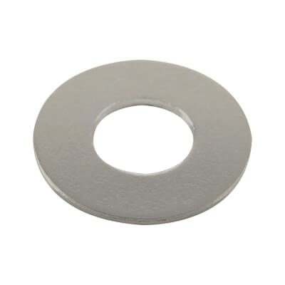 Steel Flat Washer - M8 - Bright Zinc Plated - Pack 100