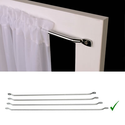Curtain Rail - 450mm Centres - Chrome