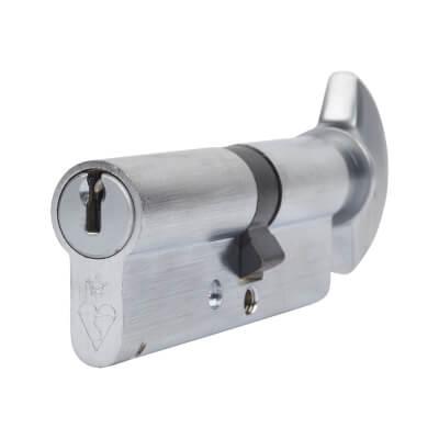 ERA 1 Star Kitemarked Cylinder - Euro Thumbturn - Length 80mm - 35[k]* + 45mm - Nickel