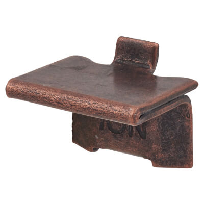 ION Heavy Duty Raised Bookcase Clip - Bronze Plated - Pack 10)