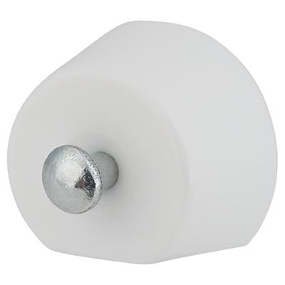 Flat Sided Pin Shelf Support - 15mm - White