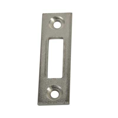 Square End Mortice Strike - 50 x 15mm - Chrome Plated - Pack 10