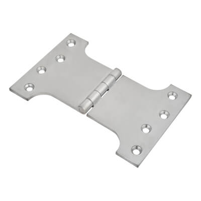 Parliament Hinge - 100 x 100 x 150mm - Satin Chrome)