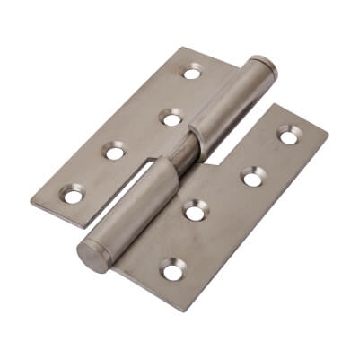 Rising Butt Hinge - 102 x 76 x 2mm - Right Hand - Satin Stainless Steel)