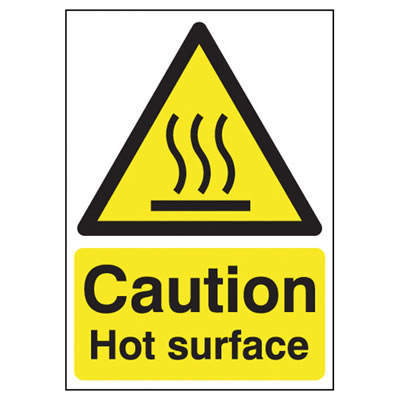 Caution Hot Surface - 210 x 148mm)