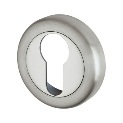Morello Escutcheon - Euro - Satin/Polished Chrome
