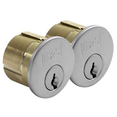 Threaded Rim Cylinder - KA - Polished Brass