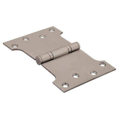Parliament Hinge - 102 x 152 x 4mm - Satin Stainless Steel - Pair