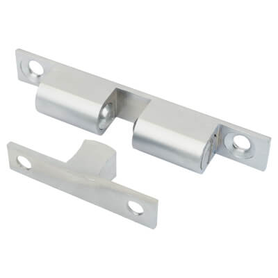 Veel-2 Double Ball Roller Catch - 50 x 8mm - Satin Chrome - Pack 5