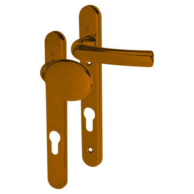 Hoppe Tokyo Multipoint Handle - uPVC/Timber - 92mm centres - 60-70mm door thickness - Lever/Pad - P
