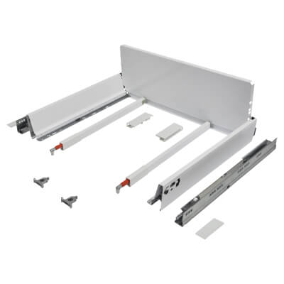 Blum TANDEMBOX ANTARO Pan Drawer - BLUMOTION Soft Close - (H) 203mm x (D) 450mm x (W) 800mm - White
