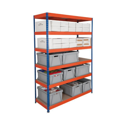 6 Shelf Heavy Duty Shelving - 250kg - 2400 x 1200 x 600mm)