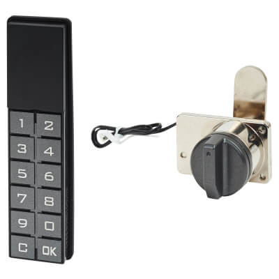 Code Operated Lever Lock - Vertical Keypad