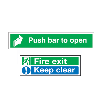 Fire Exit Door Sign Pack - Rigid Plastic)
