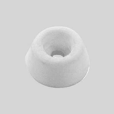 Rubber Seat Buffer - 19 x 10mm - White - Pack 4