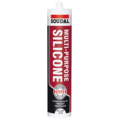 Soudal Multi-Purpose Silicone - 300ml - Brilliant White)