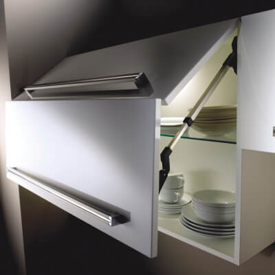 Blum AVENTOS Bi-Fold HF Mechanism - Cabinet Door Lift - Light Duty - Power Factor (LF) 2600-5500