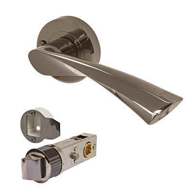 Excel Flex Door Handle - Smartlatch Privacy Set  - Black Nickel