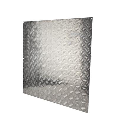 Half Door Panel Kick Plate - 900 x 900mm - 5 Bar Tread Aluminium