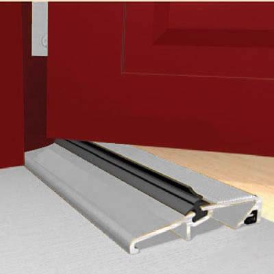 Exitex Narrow Slimline Threshold - 914mm - Inward/Outward Opening Doors - Mill Aluminium)