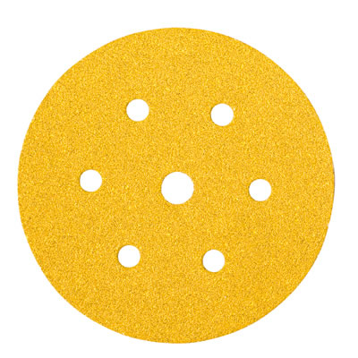 Mirka Gold Disc 7 Hole - 150mm - Grit 60 - Pack 50)