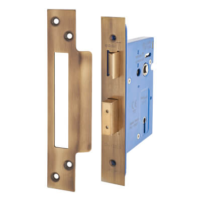 A-Spec Architectural 3 Lever Sashlock - 78mm Case - 57mm Backset - Florentine Bronze)