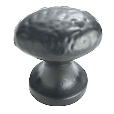 Oval Cabinet Knob - 29 x 37mm - Antique Black Iron