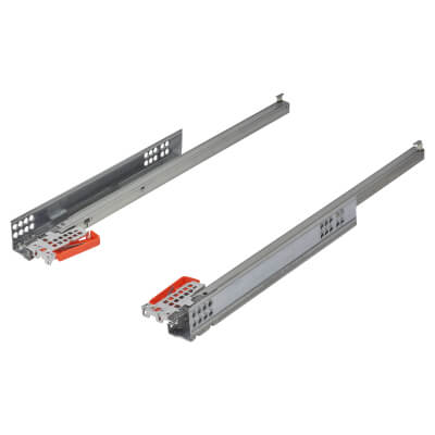 Blum TANDEM BLUMOTION Soft Close Drawer Runners - Single Extension - 500mm - 30kg