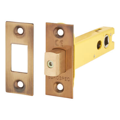 Altro 8mm Tubular Bathroom Deadbolt - 103mm Case - 82mm Backset - Square - Florentine Bronze