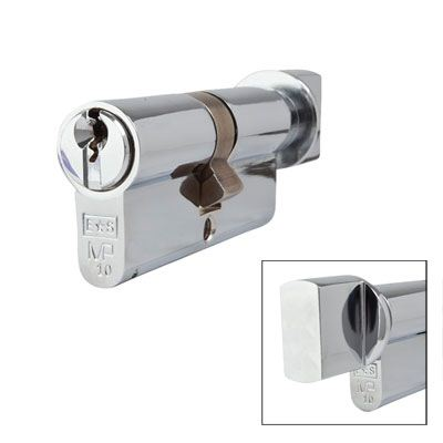 Eurospec MP10 - Euro Cylinder and Turn - 35[k] + 35mm - Polished Chrome  - Master Keyed