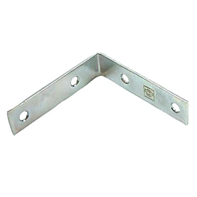 Corner Angle Bracket - 50mm - Bright Zinc Plated