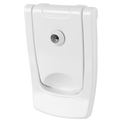 Hoppe Designer Knocker with viewer - 110 x 74mm - White