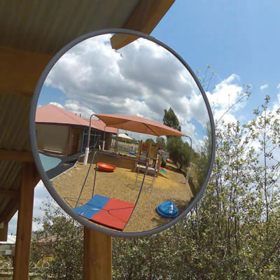 Interior/Exterior Acrylic Convex Mirror - 400mm Diameter