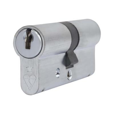 ERA 1 Star Kitemarked Cylinder - Euro Double - Length 70mm - 35 + 35mm - Nickel)