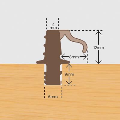 Water Bar - 2400mm - Brown - Pack 5)