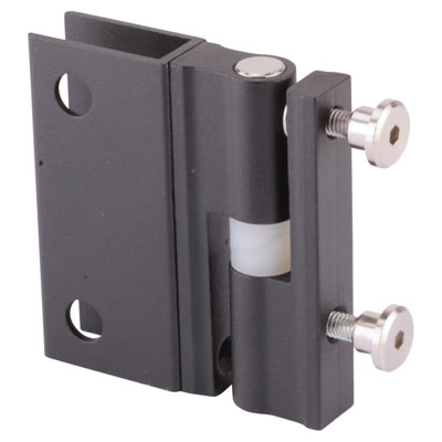 Pro Self Closing Hinge - Black Textured - 12-13mm Panels