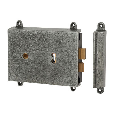 Olde Forge Rim Lock and Cover - Pewter