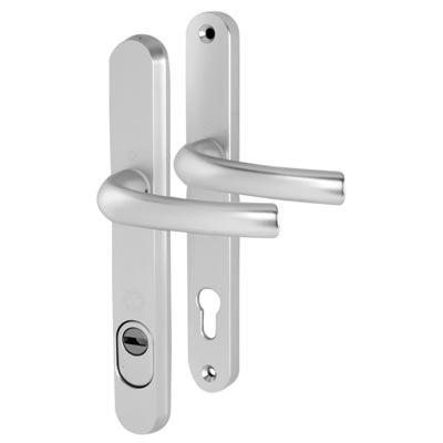 Hoppe Tokyo PAS 24 Multipoint Handle - uPVC/Timber - 92mm centres - 60mm door thickness - Silver