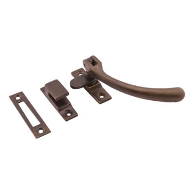Hampstead Bulb End Hook & Plate Window Fastener - Soft Antique Bronze