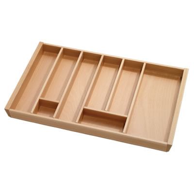Cutlery Tray to Suit Tandembox - 800 x 450mm - Beech