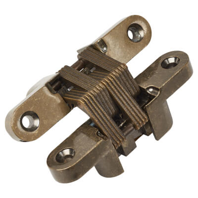 Tago Concealed Soss Hinge - 95 x 19mm - Antique Brass - Pair)