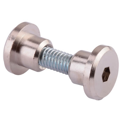 Hex Headed Bolt Through Fixing - Satin Anodised Aluminium - 17-19mm Panels - Pack 10
