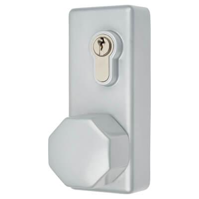 Arrone Outside Access Device - Hexagonal Turn - Silver