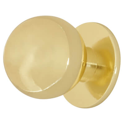 Touchpoint Ball Cabinet Knob - 25mm - Polished Brass