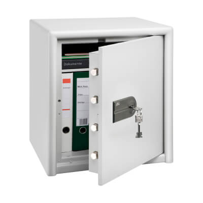 Burg Wächter CL 40 S Combi-Line Key Operated Fire Safe - 560 x 495 x 445mm - Light Grey