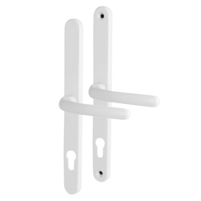 Universal Repair Multipoint Lock Lever/Lever Handle - uPVC/Timber - 92mm centres - White)
