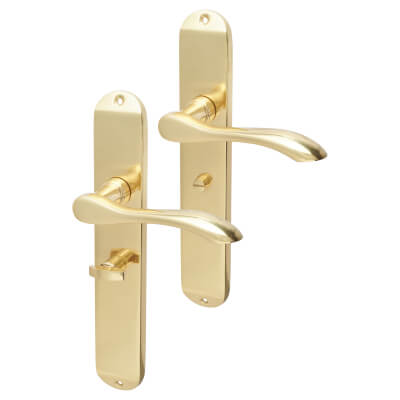 Elan Altea Door Handle - Bathroom Set - Polished Brass