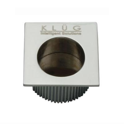 KLÜG Square Door Edge Finger Pull - 30 x 30mm - Polished Chrome