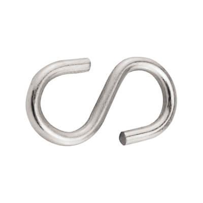 S Hook - 4mm - Zinc Plated - Pack 10)